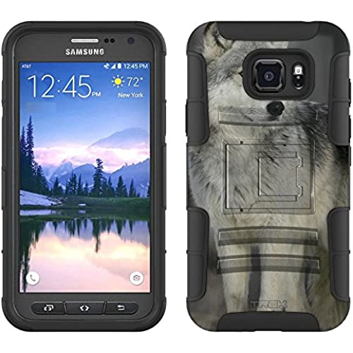 Samsung Galaxy S7 Active Armor Hybrid Case Wolf in Snow 2 Piece Case with Holster for Samsung Galaxy S7 Active Sales