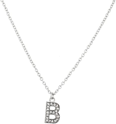 Jewels By Lux 925 Sterling Silver Yellow-Tone Mens Women CZ Letter L Charm Pendant