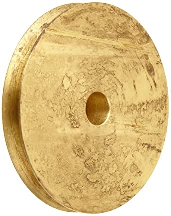 """Boston Gear G1218 Grooved Pulley, Fits Round Belts 0.1875"""" or Smaller, 0.250"""" Face, Brass"""