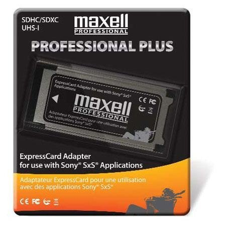 - Maxell Professional Plus Express Card SDHC/SDXC Adapter for use with Sony SxS Cards