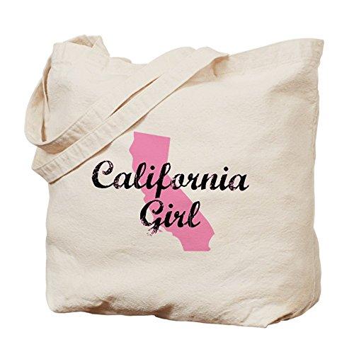 CafePress California, da bambina bambino vestiti borsa di tela, colore naturale, panno borsa per la spesa