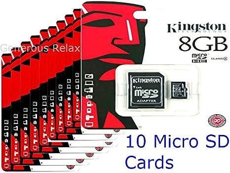 Kingston 8 GB Clase 4 Tarjeta de Memoria microSDHC SDC4/8GB (Pack ...