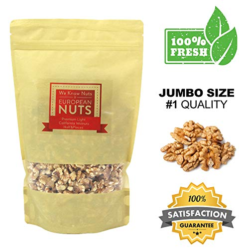 Walnut Autumn (European Nuts Premium Crunchy Light California Walnuts Half & Pieces | Source of Nutrition and Omega 3 | Jumbo Size Bag - 1 lb)