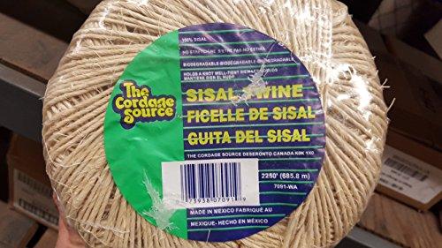 CORDAGE SOURCE 7091 No.5 Sisal Twine ()
