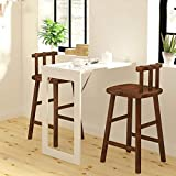 Folding Dining Table Wall-Mounted Fold Up Table for Small Spaces White MDF Multi-Function Home Office Desk Modern Simplicity Computer Desk (Size : 29'' x 17'')