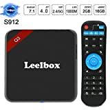 Leelbox Android TV Box, Q3 Andriod 7.1 Smart TV Box 5G WiFi 2G+16G TV Box