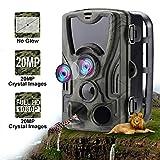 Climbose Hunting Trail Camera, 20MP 1080P No Glow Night Vision Hunting Video Cam