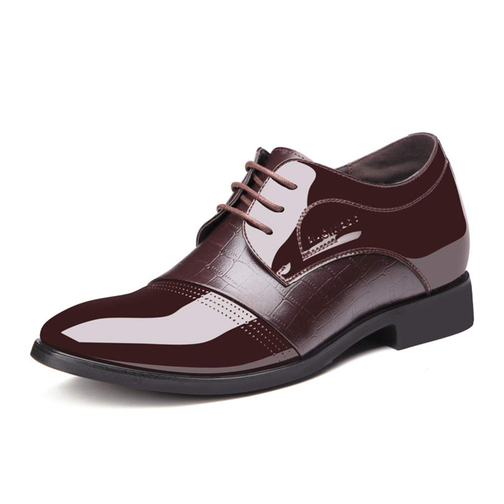 Mens Oxfords Shoes Lace-Up Pointed Toe Black Brown Business Dress Shoes