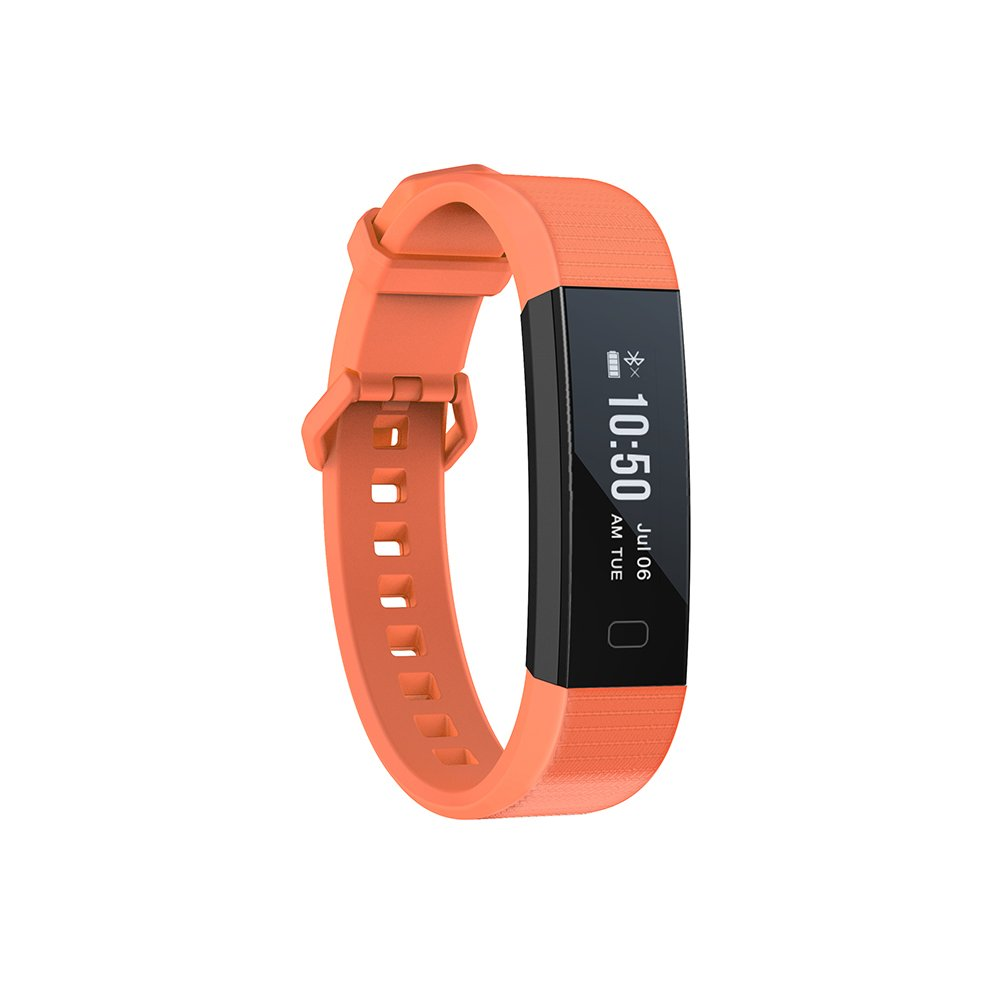 Vibing Y11 Fitness Tracker Watch, Activity Tracker with Heart Rate Monitor and Sleep Monitor, Smart Pedometer for Step Distance Calories Track, IP67 Waterproof Smart Band for iOS and Android (Orange)