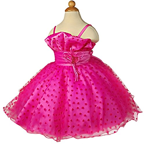 Dressy Daisy Girls' Flower Girl Dresses Pageant Party Dress Size 2-3T Hot Pink