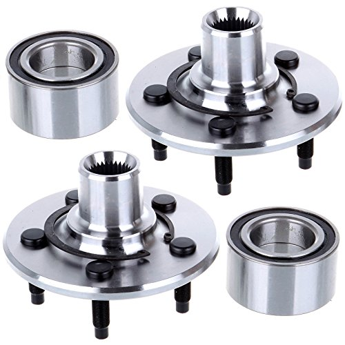 Rear Wheel Hub And Bearing (ECCPP 2 Pcs New Rear Wheel Hub and Bearing Assembly Fits Aviator, Explorer, Mountaineer 5 Lug 521000 X 2)