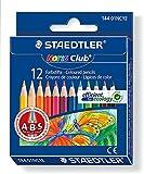 ステッドラー ノリスクラブ 色鉛筆 ハーフサイズ 12色セット (PPパッケージ仕様) 144 01NC12