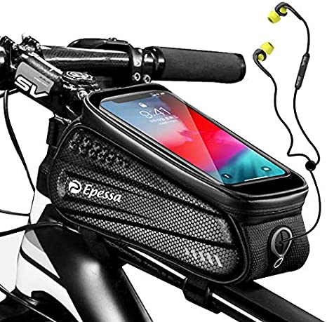 """Details about  /MTB Bicycle Top Tube Phone Bag for 6/"""" Screen Size Bike Front Frame Bag with P0W6"""