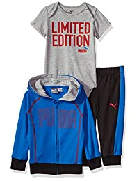 PUMA Baby-Boys Boys' Three Piece Interlock Set Hooded Sweatshirt