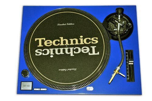 Technics Blue Face Plate for Technics SL-1200 / SL-1210 MK2 - Faceplate Turntable