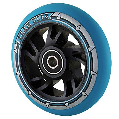 チームDogz 110 mm Swirl Core StuntスクーターWheel – ブラック/ブルー