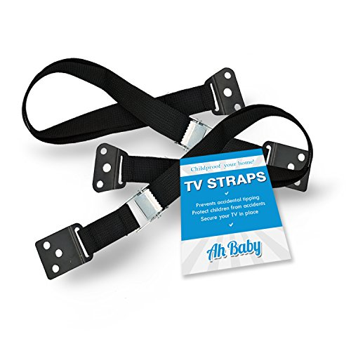 Ah Baby TV and Furniture Straps with Mounting Hardware Prevents Damage or Injury 2 Pack (Infant Tv)