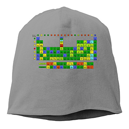 YUVIA Periodically Periodic Table Of Elements Men's&Women's Patch Beanie GolfDeepHeather Cap Hat For Autumn And Winter ()
