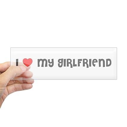 Cafepress I Love My Girlfriend Bumper Sticker 10x3 Rectangle Bumper Sticker