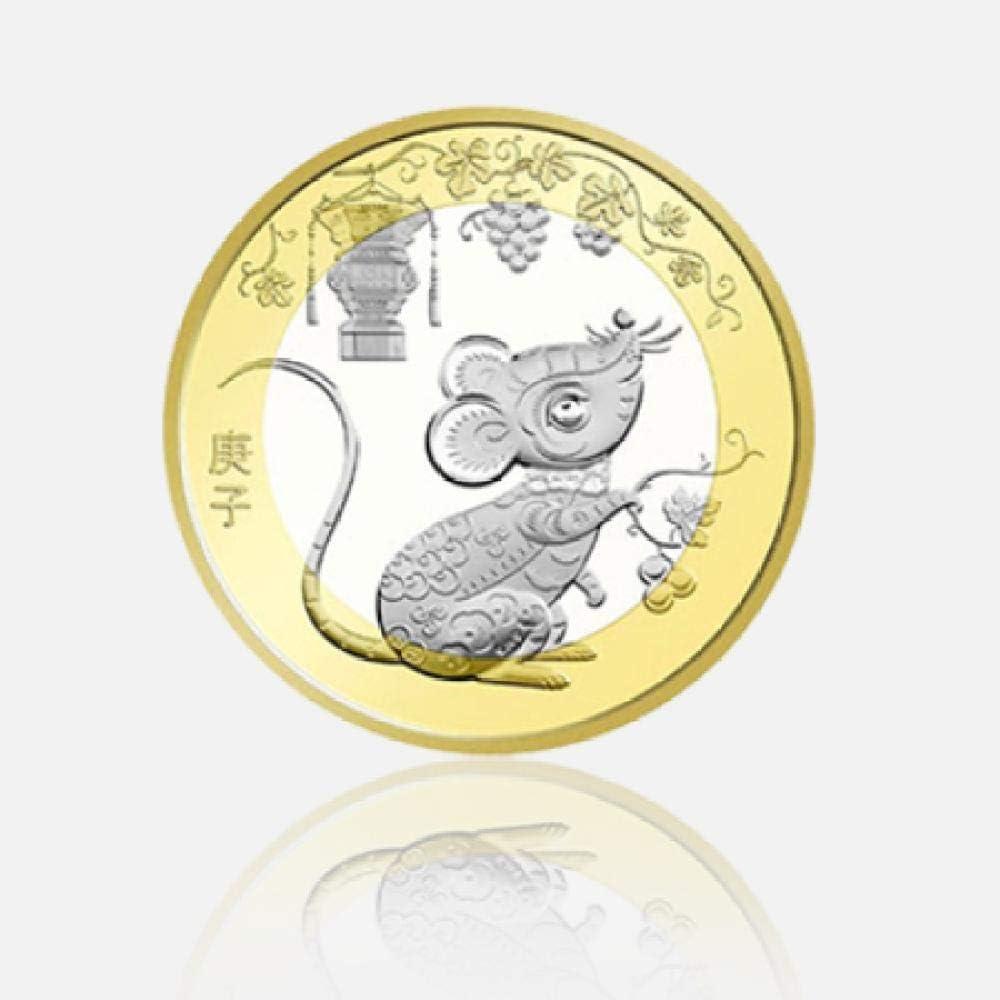 nxychunmei 3JSD2020 Año de la Rata Moneda Conmemorativa del Zodiaco 2do Año de la Rata Moneda Conmemorativa de Oro 10 Moneda de Circulación de Yuan Fidelidad 20: Amazon.es: Juguetes y juegos