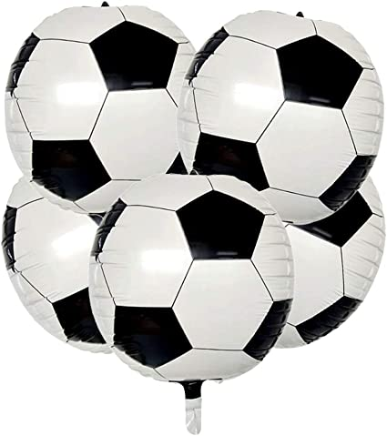 5pcs Soccer ball Design Helium Foil Balloon Sports Party Decoration 18inch