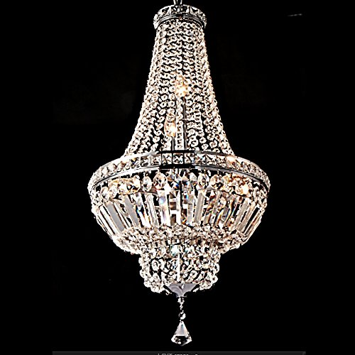 Saint Mossi Umbrella-shaped Modern K9 Crystal Raindrop Chandelier Lighting Flush mount LED Ceiling Light Fixture Pendant Lamp for Dining Room Bathroom Bedroom Livingroom 5 E12 Bulbs Required H28 X D18 by Saint Mossi