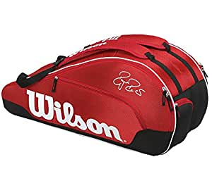 Wilson Federer Team 6-Pack Tennis Bag (Red)