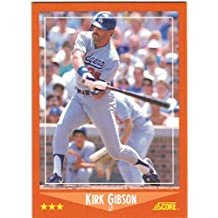 1988 Score with Rookie Traded Los Angeles Dodgers World Series Champions Team Set with Kirk Gibson - Hershiser - 34 Cards
