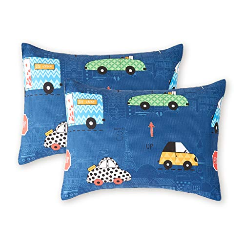 Uozzi Bedding 2 Pack Toddler Pillowcases, 19 x 14 inches Pillow Case for Boys, Girls, Infant, Kids, Ultra Soft and Breathable. (Cars & Traffic Lights) from Uozzi Bedding