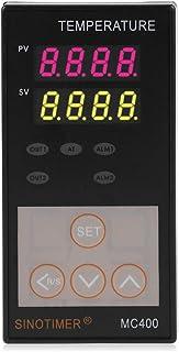Shuzhen,Contrôleur de température Intelligent MC400-FK07-MAN avec Fonction d'alarme de Chauffage et de Refroidissement(Color:Noir)