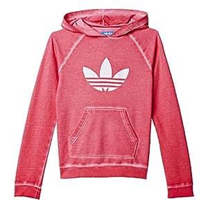 adidas J Tery Hood G - Sudadera para niña, Talla 122, Color Rosa/Blanco: Amazon.es: Zapatos y complementos