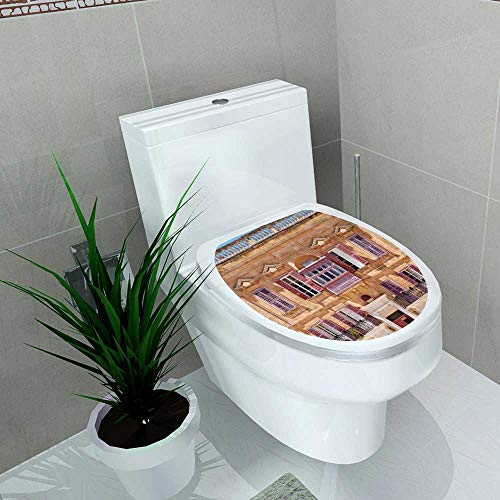 Home Decoration View one The Residential Houses in mdina Traditional Maltese Toilet Cover Stickers W6 x L8