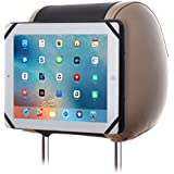 TFY 9-Inch to 10.1-Inch Tablet PC Car Headrest Mount, Fast-Attach Fast-Release Edition, for iPad Pro 9.7 and other 9 - 10.1 inch Tablet PCs, Black