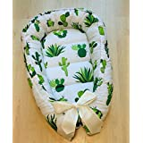 Baby Nest Baby Bed Baby Gift Cotton Crib Bedding White Green