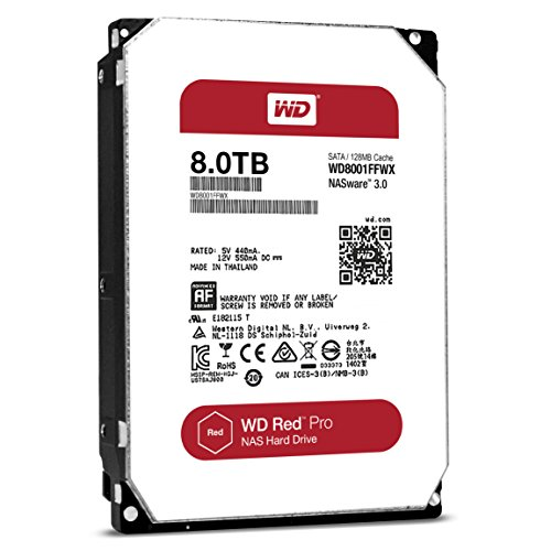 WD Red Pro 8TB 3.5-Inch SATAIII 7200rpm 128MB Cache NAS Internal Hard Drive (WD8001FFWX)