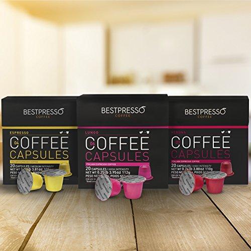 Bestpresso Coffee for Nespresso OriginalLine Machine 120 pods Certified Genuine Espresso Variety Pack, Pods Compatible with Nespresso OriginalLine by Bestpresso (Image #2)