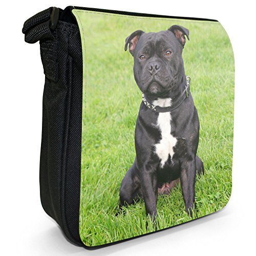 Shoulder For Staff Staffy Size Bag Staffordshire Canvas Walkies Black Small Dog Terrier Bull Out q6tx87