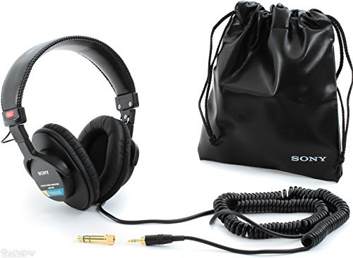 Sony MDR7506 MDR-7506 Professional Large Diaphragm Headphone w/ Soft Case