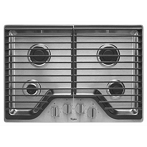 Whirlpool 30' Stainless Steel Gas Cooktop