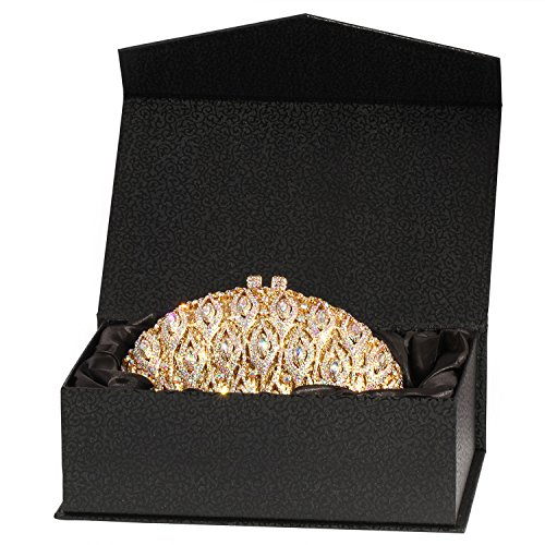 Purses Evening Wings Rhinestone Digabi Clutch Bags women Big Gold Crystal BYgYwxn