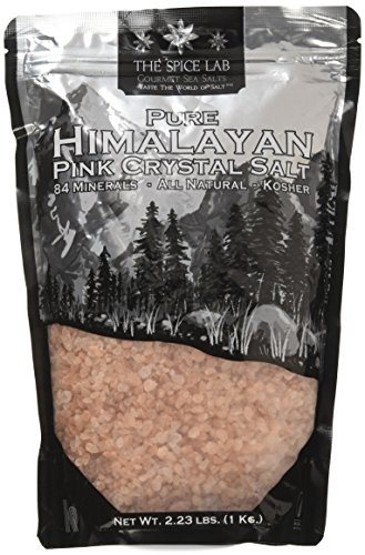 The Spice Lab Pink Himalayan Coarse Salt - Pure Gourmet Crystals - Nutrient and Mineral Fortified for Health - Kosher and Natural Certified - 1 Kilo