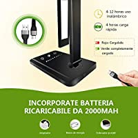 AUELEK LáLámpara Escritorio LED, Lámparas de Mesa USB Recargable ...