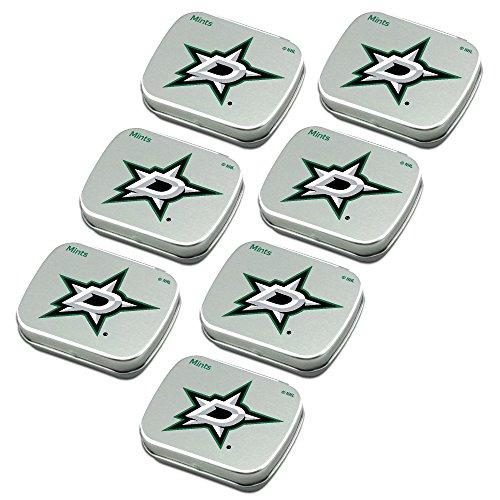 Worthy Promo NHL Dallas Stars Party Favors 7-Pack Sugar-Free Peppermint Candy Mint Tins Dallas Stars Mini Hockey Helmet