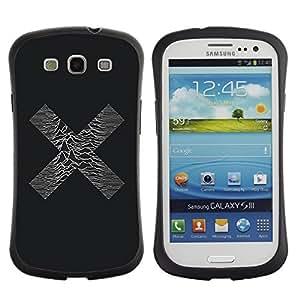 "Pulsar iFace Series Tpu silicona Carcasa Funda Case para SAMSUNG Galaxy S3 III / i9300 / i747 , X Sound Waves Música minimalista Band"""