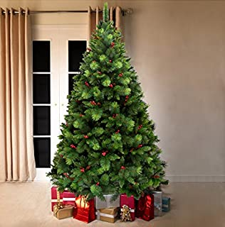11. Frosted Christmas Tree 10ft - Flocked Noble Pine - Artificial ...