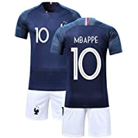 Conjunto de ropa de deporte, camiseta y pantalón corto del Mundo Francia con 2 estrellas de fútbol