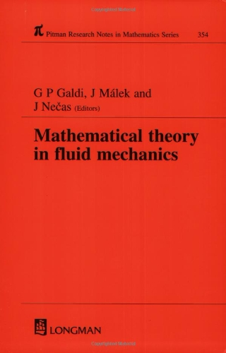 Price comparison product image Mathematical Theory in Fluid Mechanics (Chapman & Hall / CRC Research Notes in Mathematics Series)
