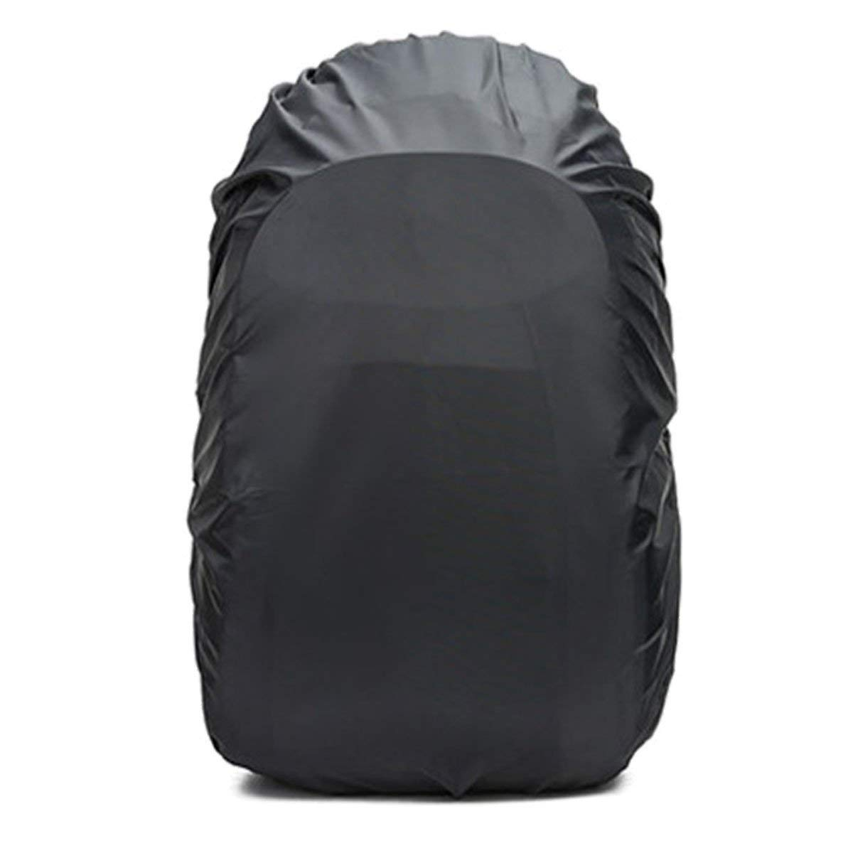 Frelaxy Waterproof Backpack Rain Cover (15-90L), Upgraded Vertical Buckle Strap & Silver Coated, Rainproof Storage Pouch Included, Perfect for Hiking (Black, M (for 25L-35L Backpack)) by Frelaxy (Image #2)