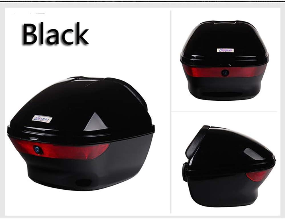 YMhbx Motorcycle Top Box//Back Hard Case 25L Motorbike Helmet Luggage Trunk scooter Tail Case for Harley,Honda,Yamaha,Suzuki,w// 2 Keys