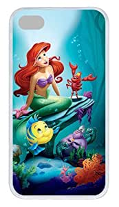 The Little Mermaid Princess Ariel LED Flash Light Up Case Cover For iPhone 4 4S + Lithium Battery